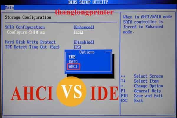 chế dộ AHCI trong bios
