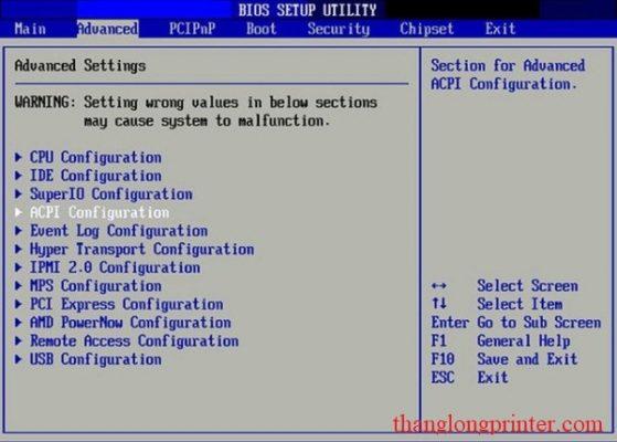 cách vào bios boot máy tính