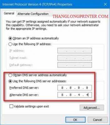 DNS sửa không vào được mạng