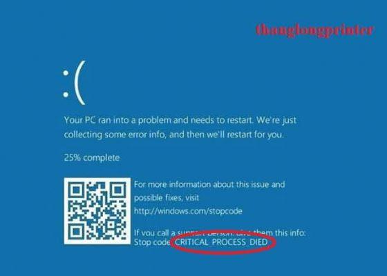 mã code lỗi màn hình xanh