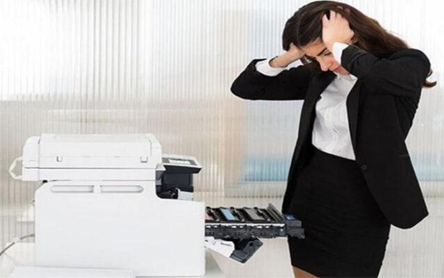 Sửa máy in ra giấy trắng làm sao?