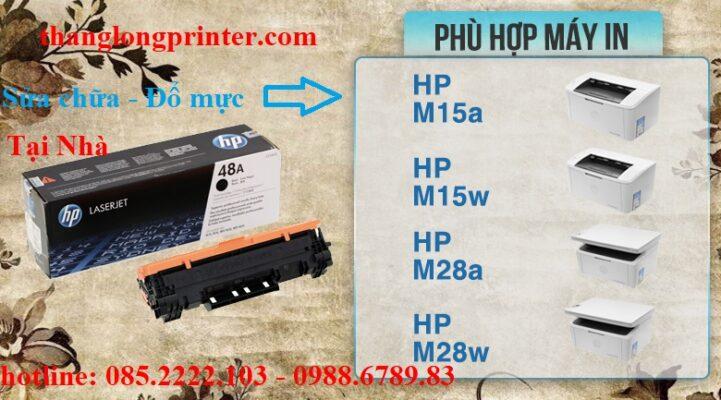 đổ mực máy in hp m15w
