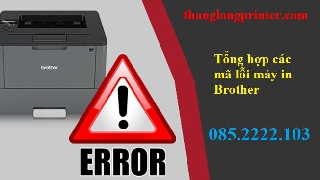 tổng hợp mã lỗi máy in brother
