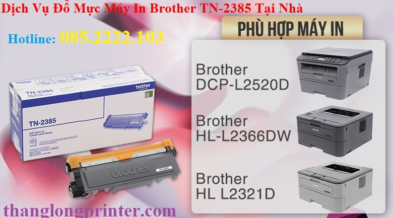 đổ mực máy in brother hl 2361dn